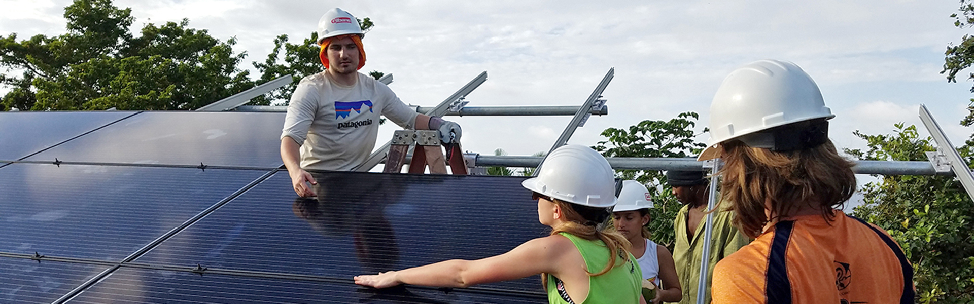 Students at Solar Panel