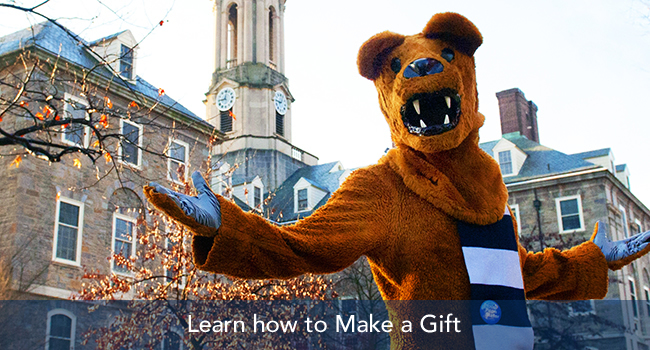 nittany lion arms wide open